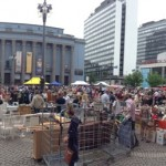 Jeden Sonntag: Flohmarkt (loppmarknad) auf dem Hötorget