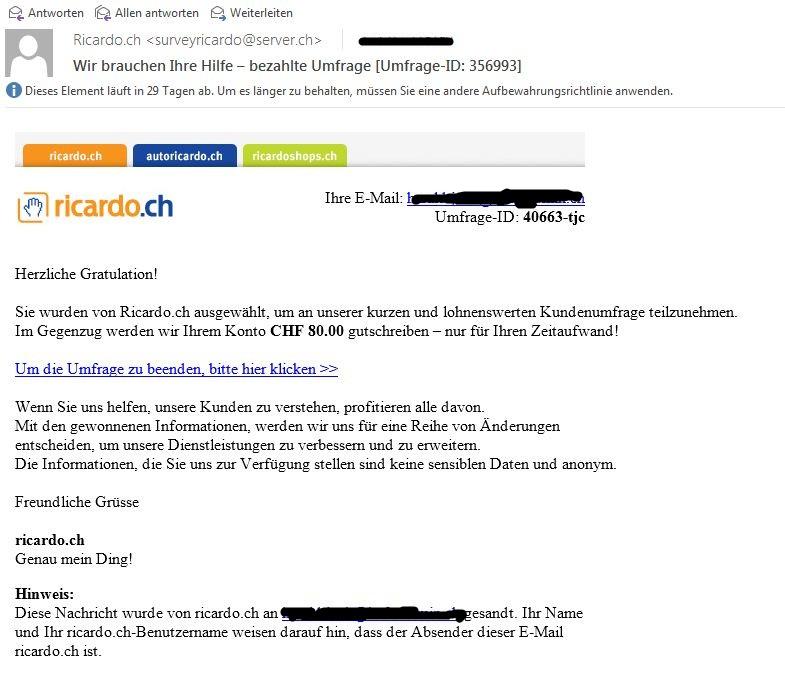 Phishing Email Ricardo