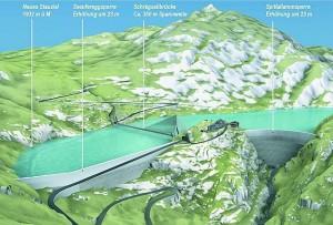 Projekt Erhöhung Grimselstaumauer