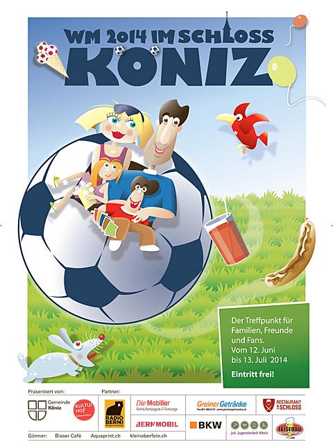 Fussball WM 2014 - Public Viewing im Schlosshof Köniz