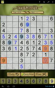Sudoku-App für Android - (Sudoku Free) von AI Factory Limited