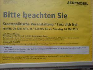 Bekanntmachung von bernmobil im Mai 2013