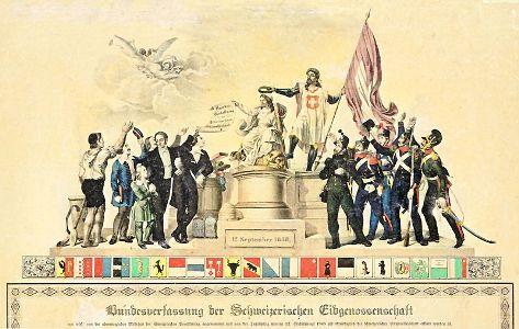 Wann wurde die Schweiz gegründet? - Erinnerungsblatt an das Inkrafttreten der ersten Bundesverfassung am 12. September 1848