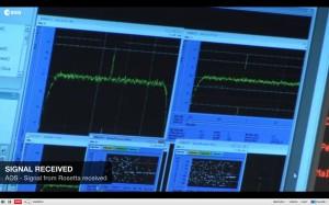 Das lang erwartete Signal der Weltraumsonde Rosetta