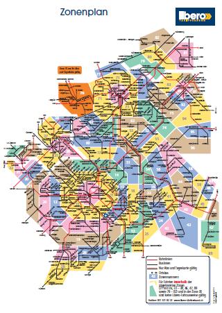 Zonenplan Libero Tarifverbund